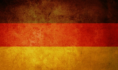 ruined: germany flag with old texture grunge and vintage Stock Photo