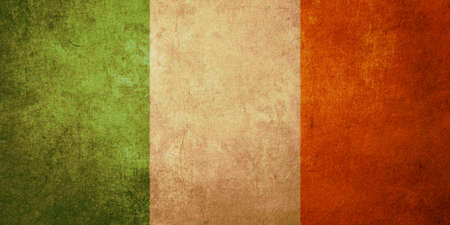 ireland flag with old texture grunge and vintage photo