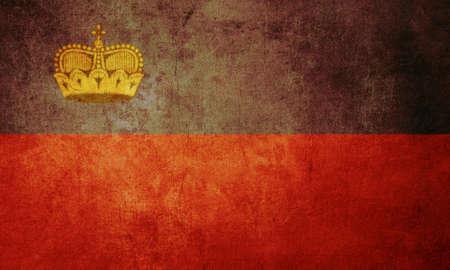 liechtenstein: liechtenstein flag with old texture grunge and vintage
