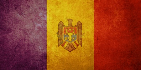 moldova flag with old texture grunge and vintage Stock Photo - 13293460