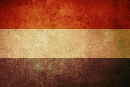 netherlands flag with old texture grunge and vintage photo