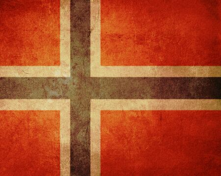 norway flag with old texture grunge and vintage Stock Photo - 13293481