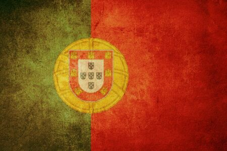 portugal flag with old texture grunge and vintage Stock Photo - 13293503