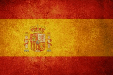 spain flag with old texture grunge and vintage photo