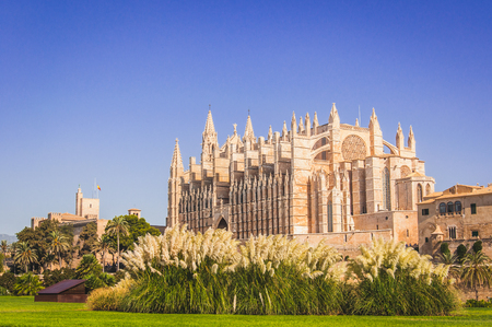 Cathedral of St. Mary of Palma de Mallorca 写真素材