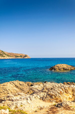 Sea and rocky coast in Mallorca for holidays