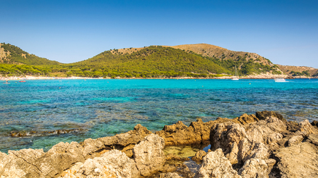 Sea and rocky coast in Mallorca for holidays