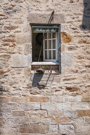 Window of a tea room in quimper