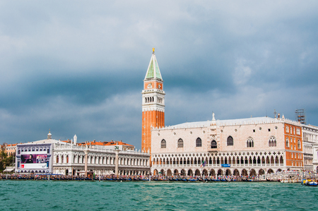 The basilica, the campanile and the Doges Palace on St. Marks Square in Venice Editöryel