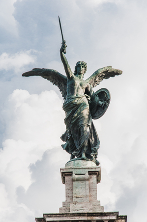 Angel statue in the streets of Rome in Italy Banque d'images