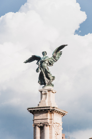 Angel statue in the streets of Rome in Italy 스톡 콘텐츠