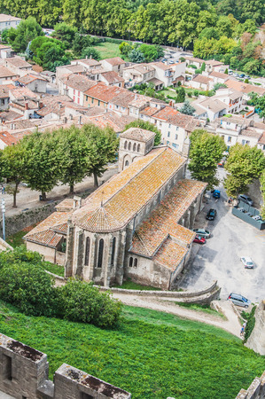 Ramparts of the Medieval City of Carcassonne in the Aude in France