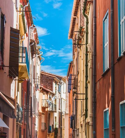 Picturesque view of the streets of Collioure, Pyrenees-Orientales, France