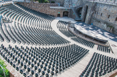 Theater of the mediaeval city of Carcassonne in the Aude in France