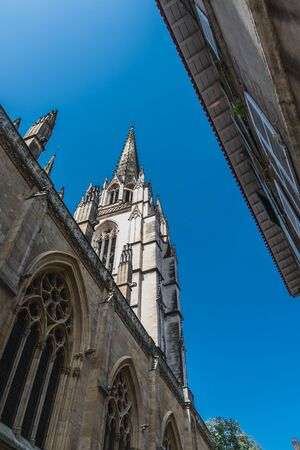 Gothic Sainte-Marie cathedral in the center of Bayonne in the Pyrenees-Atlantiques in France