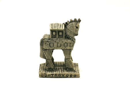 troy: Troy horse,the trojan horse Stock Photo