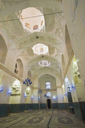 shah: Kerman, Persia, winter 2009-The praying hall of Shah Nematollah Vali Shrine, interior