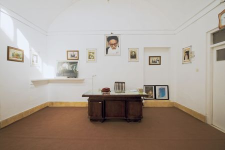 cleric: Ardakan, Iran, December 2008: study room of supreme leader of Iran Ali Hoseyni Khamenei in Ardakan