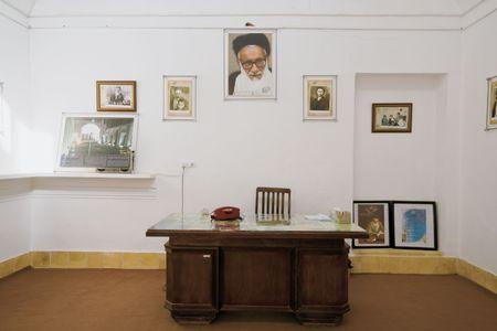 Ardakan, Iran, December 2008: study room of supreme leader of Iran Ali Hoseyni Khamenei in Ardakan