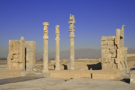 fars: Persepolis, view on entrance gate to historical complex.