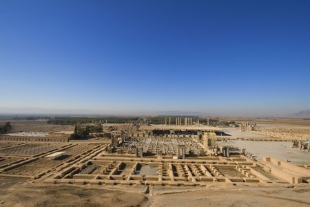 fars: Persepolis, view on all historical complex from the hill ower city