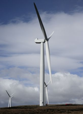windfarm: Nueva WindFarm Scout Moor Rochdale  Foto de archivo
