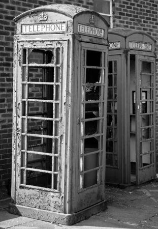 Vandalised telephone box Stock Photo - 2785586