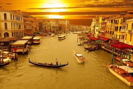 sculling: Venice Sunset