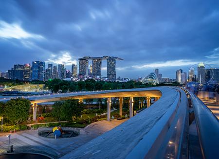 Singapore Waterfront Skyline