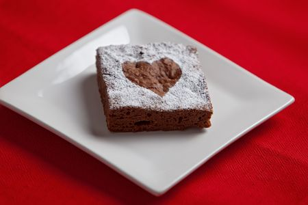 brownie with heart
