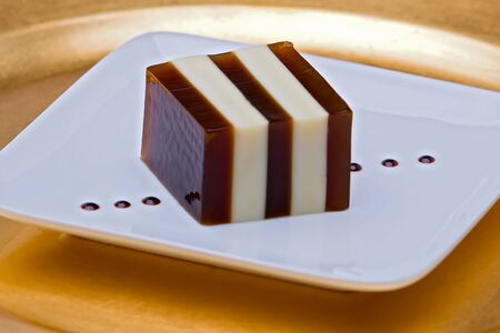 condensed: Striped coffee and condensed milk jelly