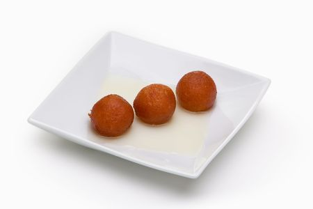 gulab: Waffle balls on square plate