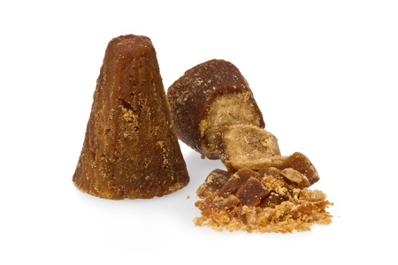 Unrefined sugar in the shape of a small cone from Mexico called piloncillo.