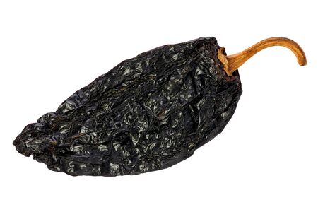 Ancho chili against a white background. Stock Photo