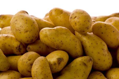 fingerling: Close-up of several fingerling potatoes.