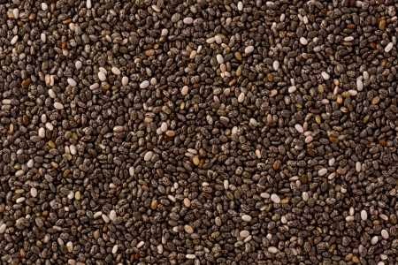 Background texture of chia seeds. Stock Photo