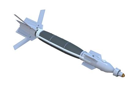 レーザーの 3 d レンダリング誘導爆弾、または白い背景に対して、スマート爆弾 写真素材 - 21451307