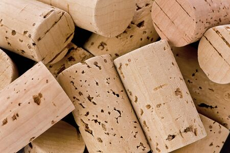 Background texture of several corks.