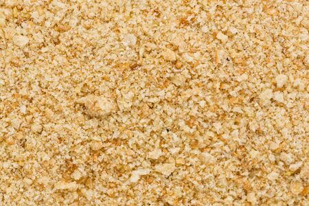 Background texture of  dry bread crumbs.