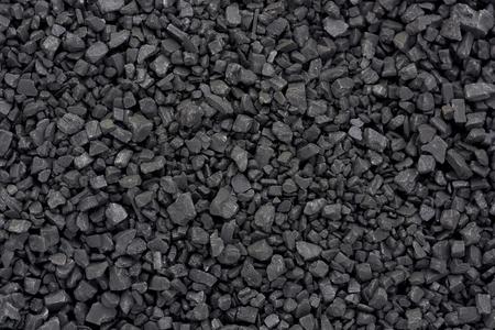 Background texture of black salt crystals.