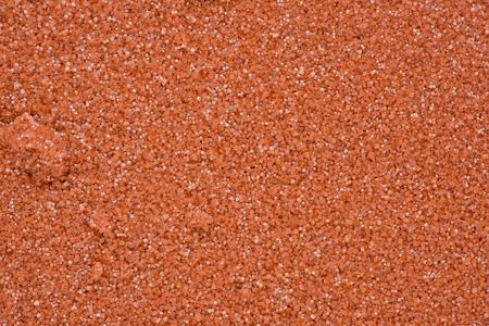 Background texture of red salt crystals. Stok Fotoğraf
