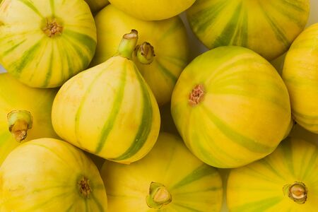 Background texture of Tiger striped figs, also known as Panache figs, and Candy striped figs.