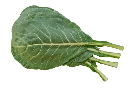 Several Collard greens against a white background. Stock fotó