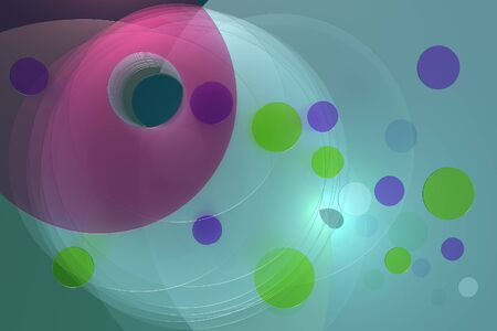3d render of several thin,  transparent, discs overlapping one another. Stok Fotoğraf
