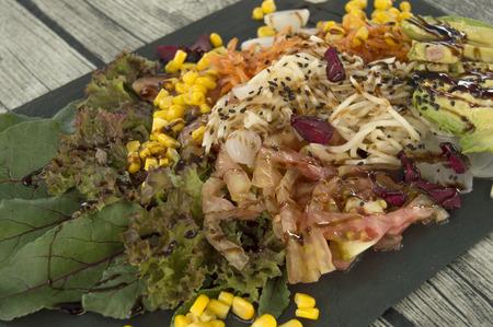 ailment: Salad close up  Stock Photo