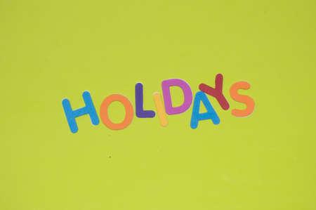 holidays: Holidays