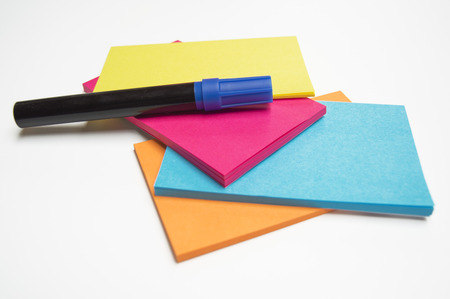 sticky: sticky notes Stock Photo