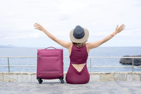휴일을 즐기기 위해 여행하기.
