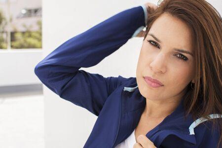 Portrait of a woman with coat Banco de Imagens