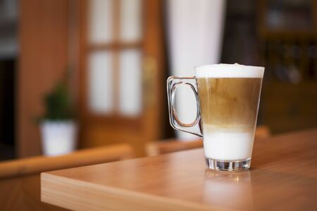 Freshly made cappuccino